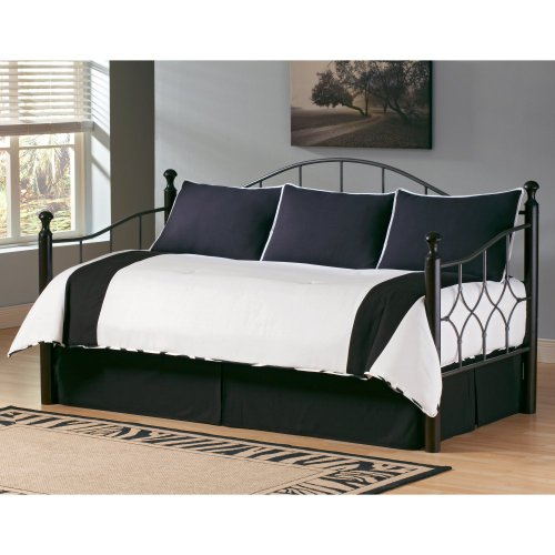 Southern Textiles Southern Textiles Zebra Daybed Ensemble, Black And White, Cotton, Daybed front-958691