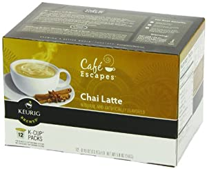 Cafe Escapes Chai Latte, K-Cup Portion Pack for Keurig Brewers, 12-Count (Pack of 6 (72 total)) by Café Escapes