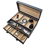 Stock Your Home Luxury Mens Dresser Valet Organizer for Watches, Jewelry & Accessories – Large Jewelry Holder & Display Case