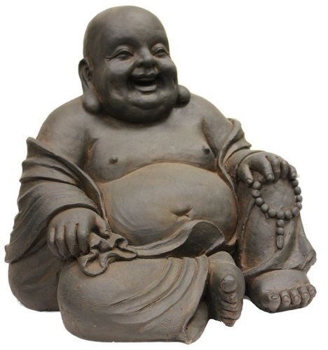 All line happy sitting buddha statue 16 5 inch new free for Does buddha bring good luck