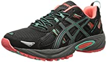 ASICS Women's Gel-venture 5 Running Shoe, Black/Aqua Mint/Flash Coral, 5 M US