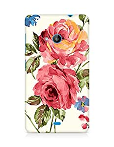 Amez designer printed 3d premium high quality back case cover for Microsoft Lumia 535 (Vintage Painting Flowers 2)