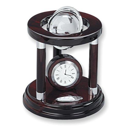 Swivel Globe & Clock