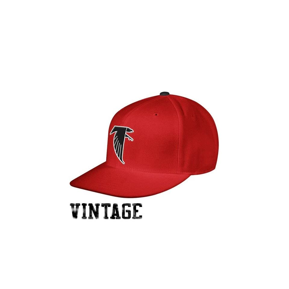 Mitchell & Ness Atlanta Falcons Red Throwback Structured Fitted Hat