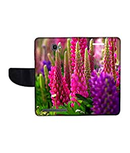 KolorEdge Printed Flip Cover For Alcatel One Touch Flash Multicolor - (1479-55KeMLogo11255AlcatelFlash)