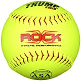 Trump� X-ROCK-ASA-Y-2 The Rock� Series 12 inch Softball - Yellow Composite Leather ASA Approved (Sold in Dozens)