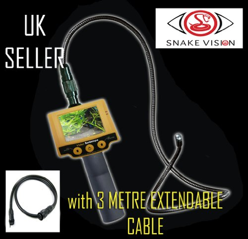 ENDOSCOPE INSPECTION CAMERA SEESNAKE 10mm 3 METRE EXT