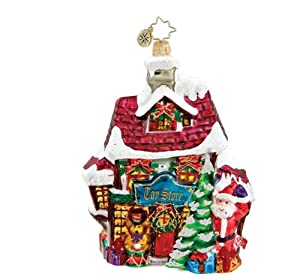 RADKO DICKENS VILLAGE TOY STORE Christmas Glass Ornament