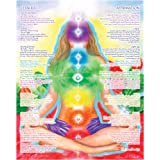 "16""x20"" Chakra Chart Poster - Chakra Girl The Path of Transformation"