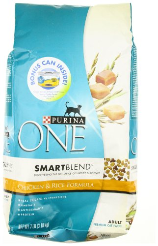 Detail image Purina One Smartblend Cat Chicken Rice, 7-Pounds