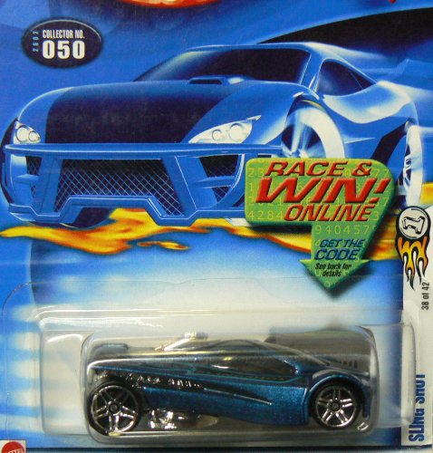 Mattel Hot Wheels 2002 1:64 Scale Blue Sling Shot Die Cast Car #050 - 1