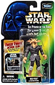 STAR WARS THE POWER OF THE FORCE- REE- YEES with BLASTER PISTOLS and FREEZE FRAME ACTION SLIDE