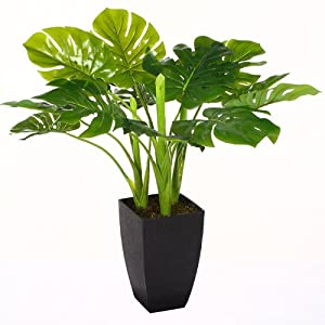 plante verte artificielle 77 cm avec pot cuisine maison. Black Bedroom Furniture Sets. Home Design Ideas