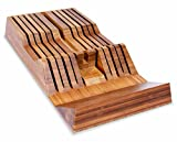 Culina Bamboo in-Drawer Knife Tray w/ Handle Rest Wedge 18