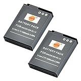 DSTE® 2pcs EN-EL12 Rechargeable Li-ion Battery for Nikon Coolpix P300, P310, P330, P340, S31, S70, S610, S620, S630, S640, S800c, S1000pj, S1100pj, S1200pj, S6000, S6100, S6150, S6200, S6300, S8000, S8100, S8200, S9050, S9100, S9200, S9300, S9400, S9500