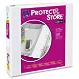 Protect & Store View Binder w/EZ-Turn Ring, 11 x 8-1/2, 1-1/2 Cap, White, Sold as 1 Each