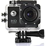 DBPOWER 1080P Waterproof Action Camera DV 12MP HD DVR Camcorder + Mounting Accessories Kit