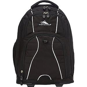 High Sierra Freewheel Wheeled Book Bag Backpack,20.5 x 13.5 x 8-Inch,Black/Black