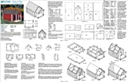 Dog House / Pet Kennel Project Plans, Gable Double Roof Style with Porch, Design # 90305D