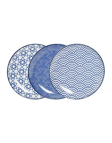 Assiettes Nippon Blue de Tokyo Design Studio de 16cm de diamètre (lot de six)