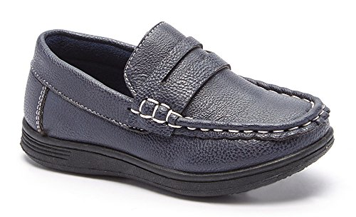 CoXist Boys Slip On Casual or Dress Penny Loafer Shoe (Toddler/Little Kid/Big Kid) navy 7