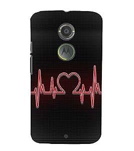 Love Beat design 3D Hard Polycarbonate Designer Back Case Cover for Motorola Moto X2 :: Motorola Moto X (2nd Gen)