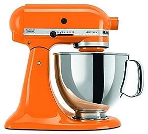 KitchenAid KSM150PSTG 5-Quart Artisan Series Mixer with Pouring Shield, Tangerine