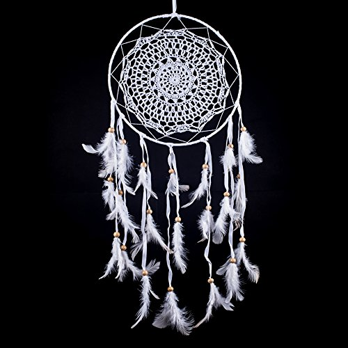 Dream Catcher ~ White Crochet, Boho, Gypsy, Hippie Style 10