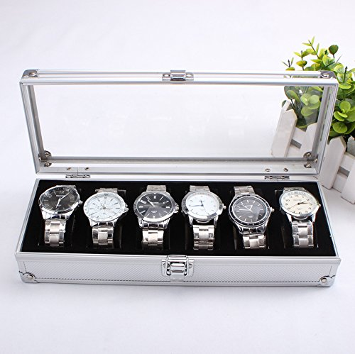 revesun coffret montres pour 6 montres boite montre aluminium homme bijoux en or. Black Bedroom Furniture Sets. Home Design Ideas