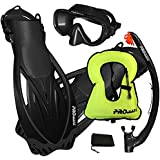PROMATE Snorkeling Mask Fins DRY Snorkel Set Gear Bag