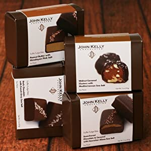 Truffle Fudge Bites by John Kelly - Dark Chocolate with French Grey Sea Salt (2 ounce)