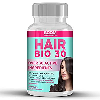 #1 Hair Growth Supplement | Hair Growth Vitamins | Biotin Hair Treatment | 60 Natural Hair Thickener Tablets | 1 Month Supply | Helps Grow Hair For Women | Achieve Thicker, Fuller Hair FAST | Safe And Effective | Best Selling Hair Growth Pills | Manufactu