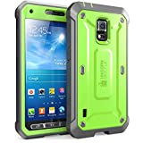 Supcase Unicorn Beetle Pro Full-body Rugged Hybrid Case with Built-in Screen Protector for Galaxy S5 Active - Green/Gray