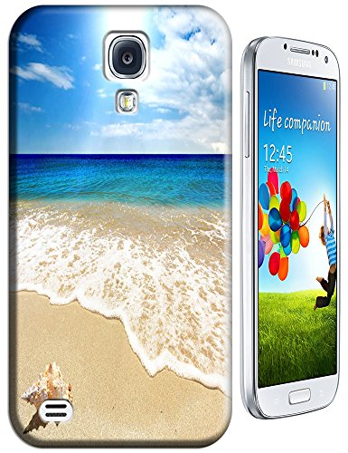 Cell Phone Case Beach Design Beautiful Sunshine Water Trees For Samsung Galaxy S4 I9500 No.3 back-56180