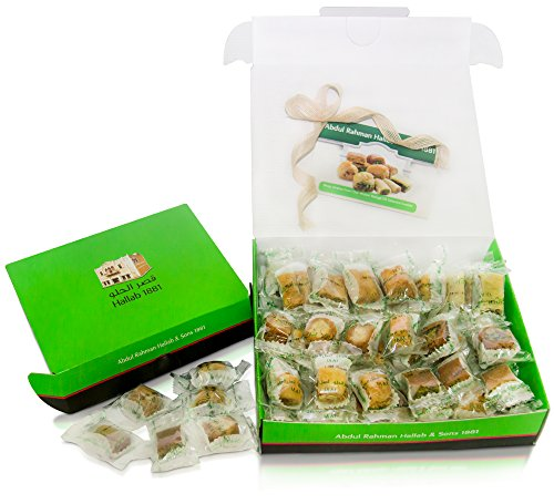LUXURY BAKLAVA PASTRY SAMPLER SET (20 Oz) Hallab 1881, Taste the Unique, ORIGINAL Most Prestigious Assorted Baklava Sweets (Best Gift idea) (Gift Box 20 Oz, Baklava Variety Pack) (Phyllo Dough Shredded compare prices)