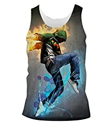 Snoogg Dancer Rager Mens Casual Beach Fitness Vests Tank Tops Sleeveless T shirts