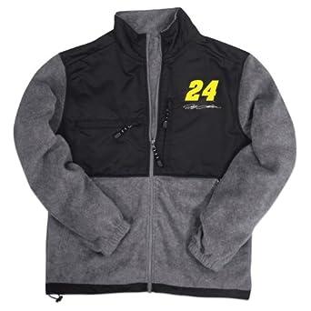 Checkered Flag Mens Jeff Gordon NASCAR Zip Front Fleece Jacket by Checkered Flag