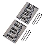 2pcs NEW Quality 4 String Vintage Bass Bridge Chrome for Squier/fender Jazz Bass
