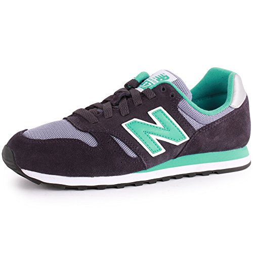 New Balance 373 Womens Suede & Textile Trainers Navy Green 11 Us