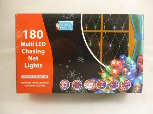 180 Multi Coloured Led Chasing Net Light 1.8M X 1.2M Size