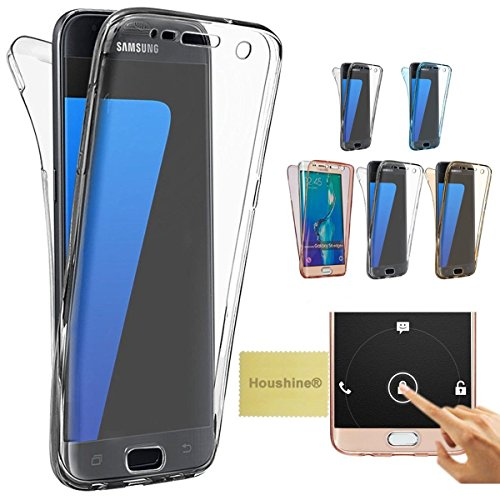 Note 4 case(Front+Back Cover Gel Series), Houshine Shockproof TPU 360 degree Protective Clear Crystal Rubber Soft Case Cover For Samsung Galaxy Note 4, Transparent (Front And Back Case For Note 4 compare prices)