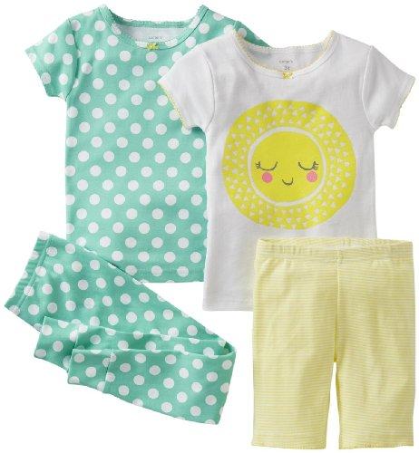 Carter'S Girls' 4 Piece Cotton Set (Toddler) - Sunshine - 2T front-500089