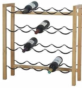 Generique range bouteille de vin en bois 16 places for Range bouteille fait maison