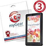 myGear Products LifeGuard Screen Protector Film for Amazon Kindle Fire (Previous Generation) - (3 Pack) Clear LIFETIME GUARANTEE