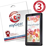 myGear Products LifeGuard Screen Protector Film for Amazon Kindle Fire (Previous Generation) - (3 Pack) Clear LIFETIME GUARANTEE ~ myGear Products