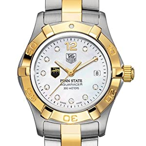 Penn State TAG Heuer Watch - Ladies Two-Tone Aquaracer Watch with Diamond Dial by TAG Heuer