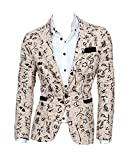 KMFEEL Men Fashion Korean Slim Fit Single-breasted Casual Suit Jacket