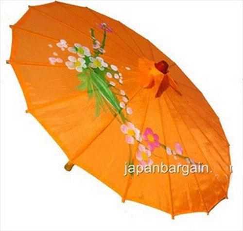 Japanese Chinese Umbrella Parasol 32in L-Orange 156-8
