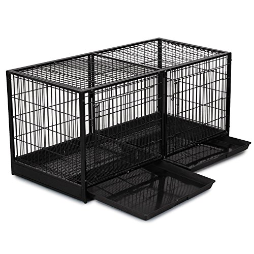 ProSelect Steel Modular Cage with Plastic Tray, Black (Dog Modular Cage compare prices)