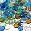 TBC Home Branded 500 Mixed GLASS MOSAIC PEBBLES, FLAT BOTTOM MARBLES, GEM STONES, VASE FILLERS